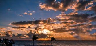 Восход солнца Атлантического океана Стоковые Изображения