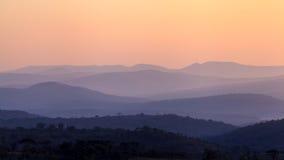 Восход солнца Африка захода солнца ландшафта стоковое фото