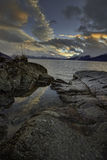 Восход солнца Аляски последний 2015 Стоковое Изображение RF