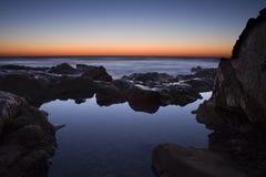 Восход солнца бассейна утеса Стоковая Фотография RF
