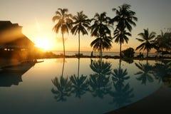 Восход солнца бассейна Стоковые Фотографии RF