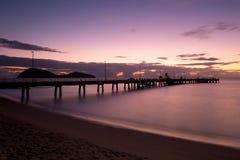 Восход солнца бухты ладони Стоковые Фотографии RF