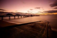 Восход солнца бухты ладони Стоковое Изображение