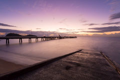 Восход солнца бухты ладони Стоковое Изображение RF