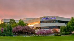 Восход солнца весной на технологии микрона Стоковая Фотография RF