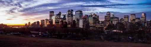 восход солнца вечера европы принципиальной схемы города Стоковое Изображение