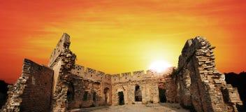 Восход солнца Великой Китайской Стены Стоковые Изображения