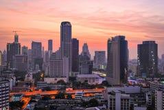 Восход солнца в Бангкоке Стоковые Изображения RF
