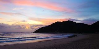 Восход солнца в береговой линии Мозамбика Стоковая Фотография