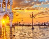 Восход солнца в Венеции Стоковые Фотографии RF
