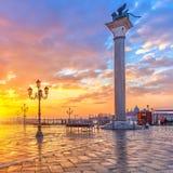 Восход солнца в Венеции Стоковые Изображения RF
