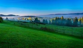 Восход солнца в Вермонте Стоковые Изображения RF