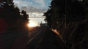 Восход солнца в Германии Стоковые Изображения RF