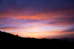 Восход солнца в горах Стоковое фото RF