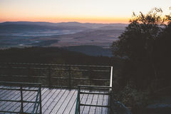 Восход солнца в горах Стоковое Изображение RF