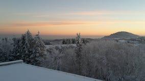 Восход солнца в горах Стоковые Изображения RF