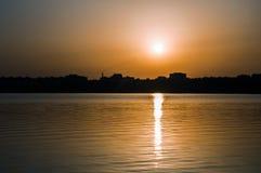Восход солнца в городе Стоковые Фотографии RF