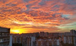 Восход солнца в городе Стоковое Изображение