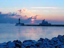 Восход солнца в декабре Стоковое фото RF