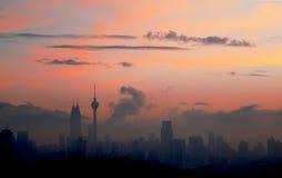 Восход солнца в Куалае-Лумпур Стоковое Фото
