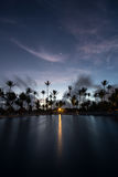 Восход солнца в курорте Punta Cana Стоковое Изображение RF