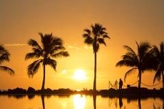 Восход солнца в Майами стоковые изображения rf