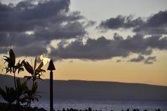 восход солнца в Мауи Стоковая Фотография
