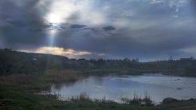Восход солнца в маленьком городе Стоковые Фотографии RF