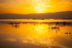 Восход солнца в мертвом море Стоковые Изображения RF