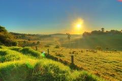 Восход солнца в Мильтоне, Австралии стоковое изображение rf