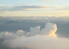 Восход солнца в небе Стоковые Изображения RF