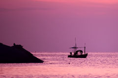 Восход солнца в океане Стоковые Изображения RF