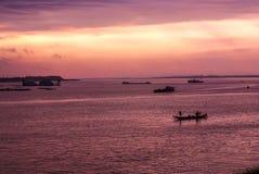 Восход солнца в Пномпень Стоковая Фотография RF