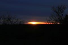 Восход солнца в полях Стоковое фото RF