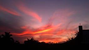 Восход солнца в пригородах стоковые изображения rf