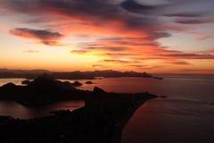 Восход солнца в Рио-де-Жанейро, Бразилии Стоковые Изображения RF
