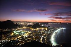 Восход солнца в Рио-де-Жанейро, Бразилии Стоковое Изображение