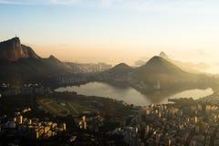 Восход солнца в Рио-де-Жанейро, Бразилии Стоковое Фото