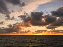 Восход солнца в Северном море Стоковое фото RF