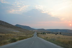 Восход солнца в Северн-Греции стоковые изображения
