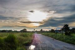 Восход солнца в сельском Стоковое Фото