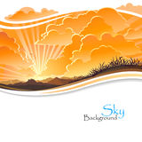 Восход солнца в утесистых холмах Стоковая Фотография