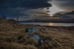 Восход солнца в Шотландии Стоковые Изображения RF