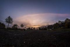 Восход солнца в Adrspach стоковое изображение rf