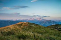 Восход солнца в alps стоковые фотографии rf