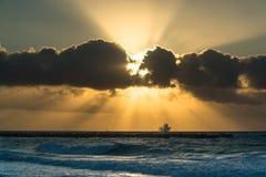 Восход солнца в Cancun Стоковая Фотография RF