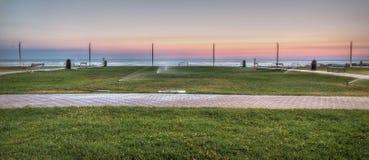 Восход солнца в pesaro Стоковое Изображение
