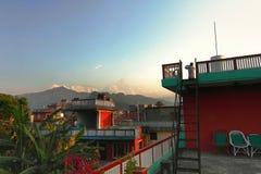 восход солнца в pokhara Непале Стоковая Фотография