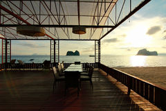 Восход солнца в trang Таиланде Стоковые Изображения RF