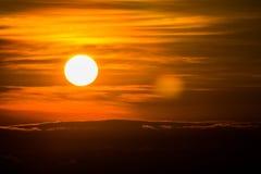 Восход солнца в Xalapa стоковое изображение rf